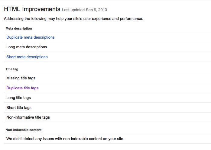 HTML site errors