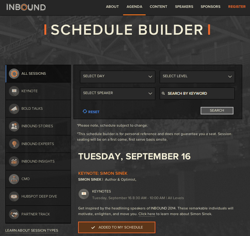 inbound session builder